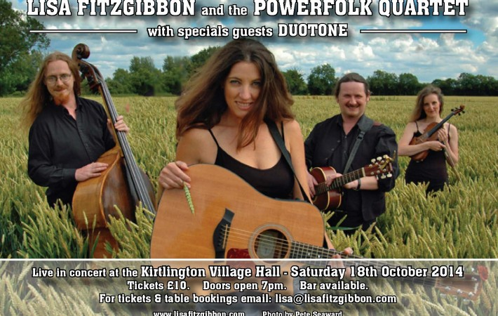 Lisa Fitzgibbon & the PFQ 2014- concert poster